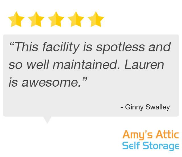 storage facility is spotless testimonial